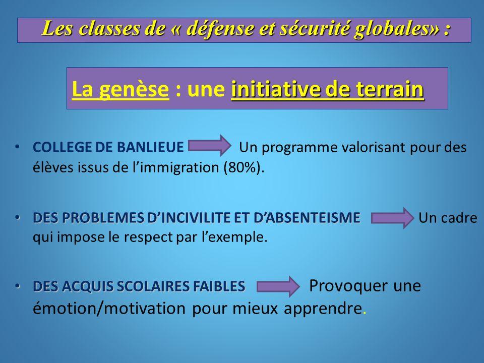 initiative de terrain La genèse : une initiative de terrain COLLEGE DE BANLIEUE Un programme valorisant pour des élèves issus de limmigration (80%). D