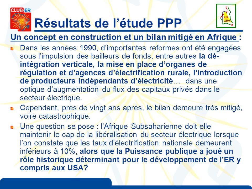 Résultats de létude PPP Un concept en construction et un bilan mitigé en Afrique : Dans les années 1990, dimportantes reformes ont été engagées sous l