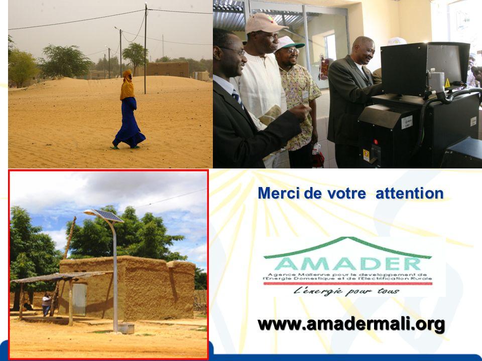 Merci de votre attention www.amadermali.org