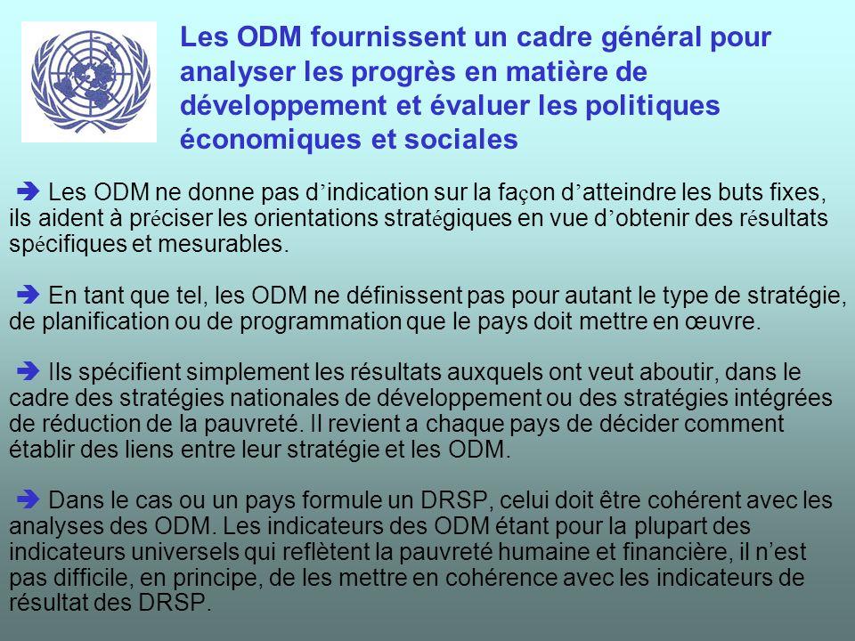 Ils servent de point de repères pour préparer les plans de développement nationaux et mesurer les progrès accomplis.