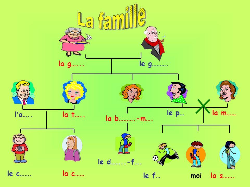 la g…...le g………. la m……le p… la b……….-m…. le f…moila s……. l o…..la t….. le c…….la c…… le d……..-f….