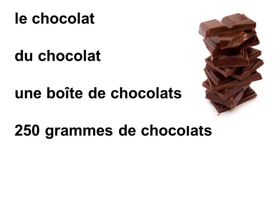 le chocolat du chocolat une boîte de chocolats 250 grammes de chocolats