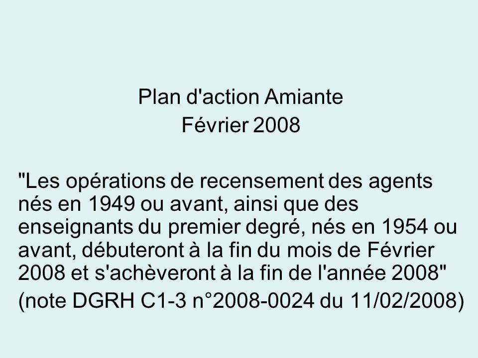 Plan d'action Amiante Février 2008