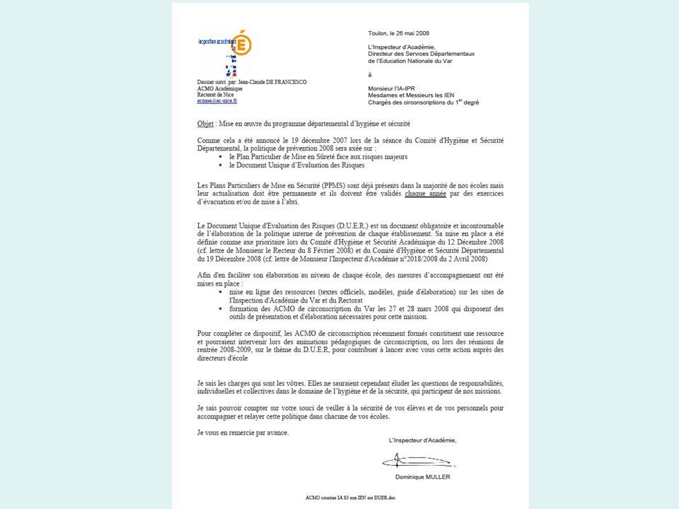 Site Académique Hygiène et Sécurité www.ac-nice.fr rubrique Personnels > Hygiène et Sécurité Contacts : -ACMO Académique : acmoa@ac-nice.fracmoa@ac-nice.fr -Inspecteur Hygiène et Sécurité : ihs@ac-nice.frihs@ac-nice.fr