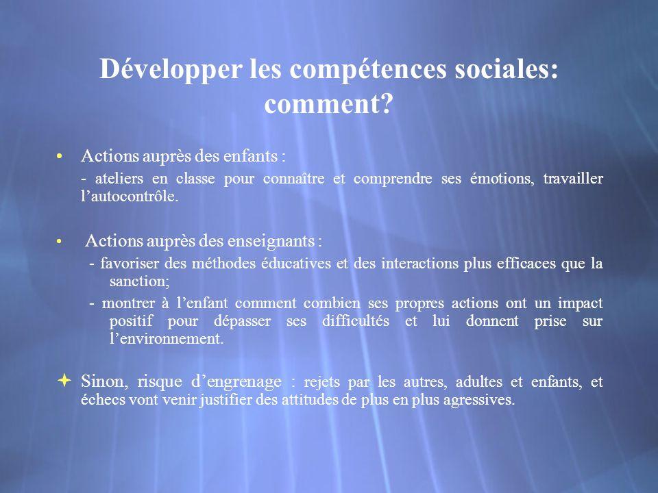 Développer les compétences sociales: comment.