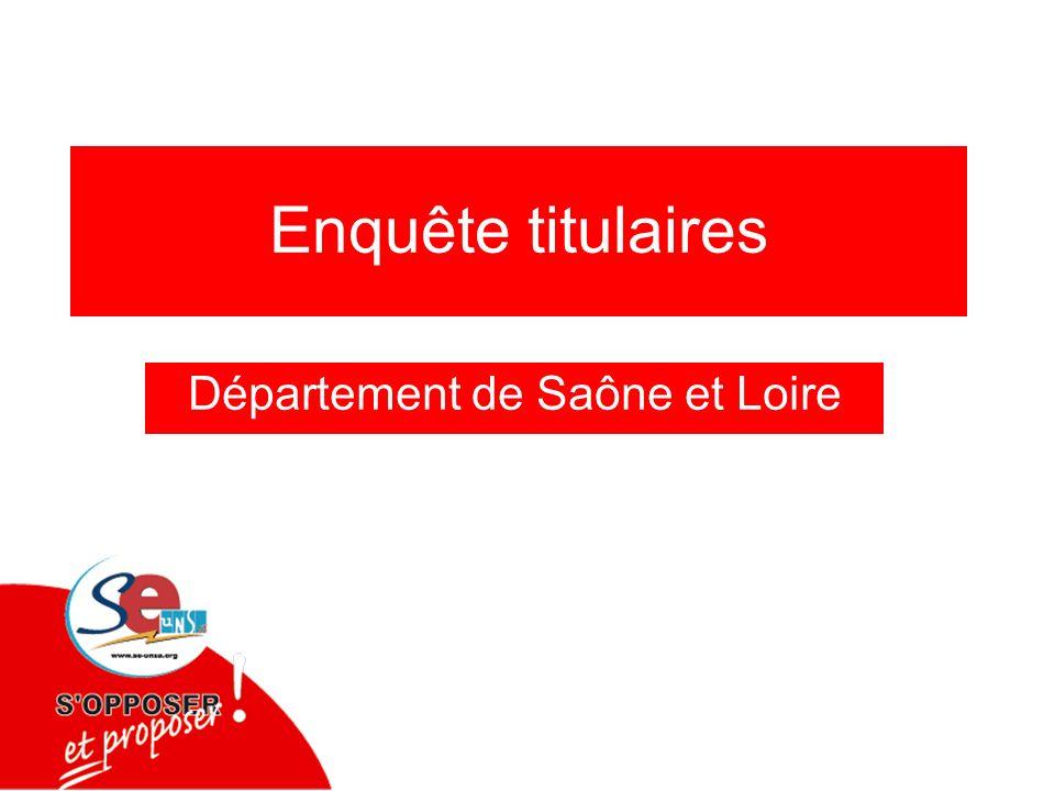 Enquête titulaires Département de Saône et Loire