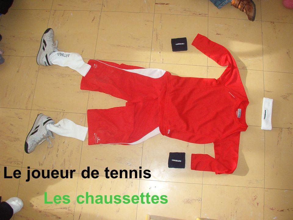 Le joueur de tennis Les chaussettes