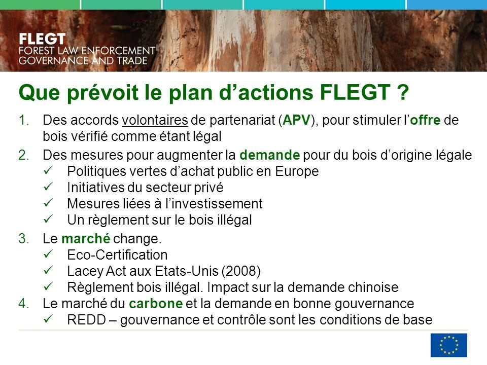 Que prévoit le plan dactions FLEGT .