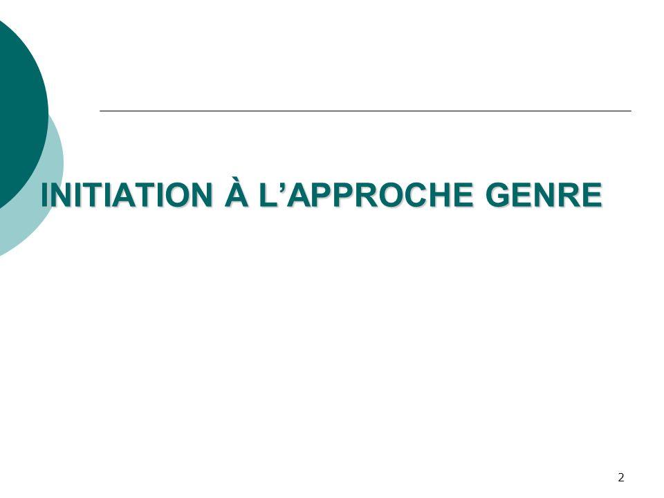 2 INITIATION À LAPPROCHE GENRE