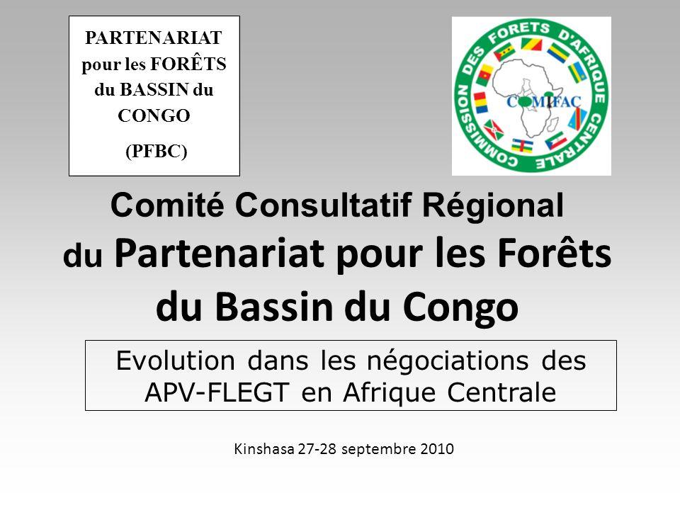Plan de l exposé Introduction FLEGT et l APV État d avancement des APV par pays Leçons tirées de l expérience régionale Enjeux et Perspectives