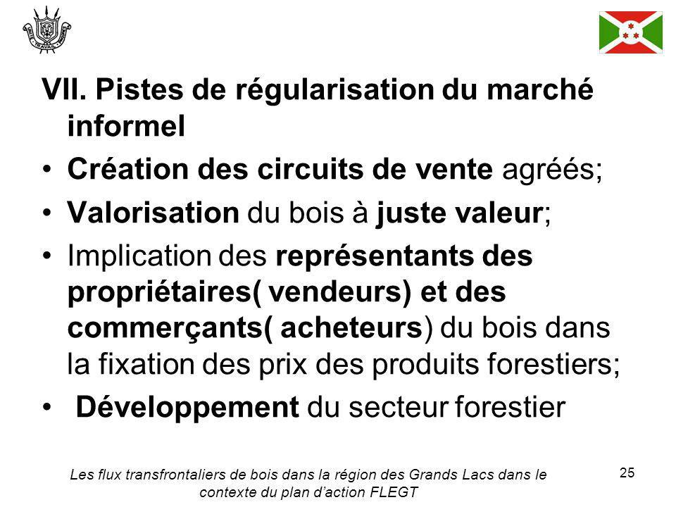Les flux transfrontaliers de bois dans la région des Grands Lacs dans le contexte du plan daction FLEGT 25 VII.