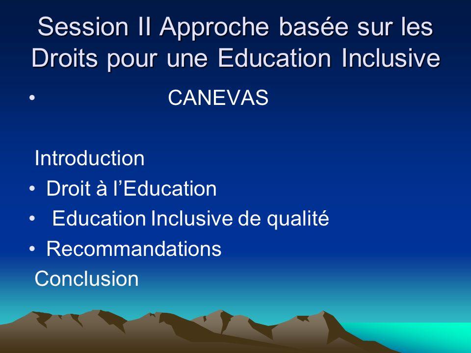 INTRODUCTION Rapport Mondial de suivi de lEPT 2010, « Seuls des systèmes éducatifs inclusifs ont le potentiel pour mobiliser les compétences nécessaires afin de construire les sociétés du savoir du 21e siècle » Directrice Générale de lUNESCO