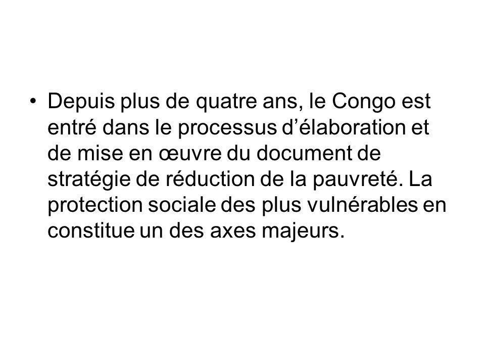 Depuis plus de quatre ans, le Congo est entré dans le processus délaboration et de mise en œuvre du document de stratégie de réduction de la pauvreté.