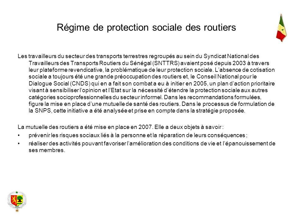 Régime de protection sociale des routiers Les travailleurs du secteur des transports terrestres regroupés au sein du Syndicat National des Travailleur