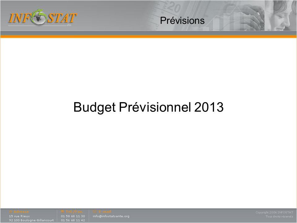 Prévisions Budget Prévisionnel 2013