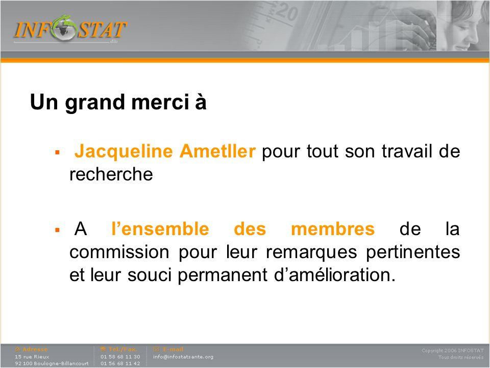 Un grand merci à Jacqueline Ametller pour tout son travail de recherche A lensemble des membres de la commission pour leur remarques pertinentes et leur souci permanent damélioration.