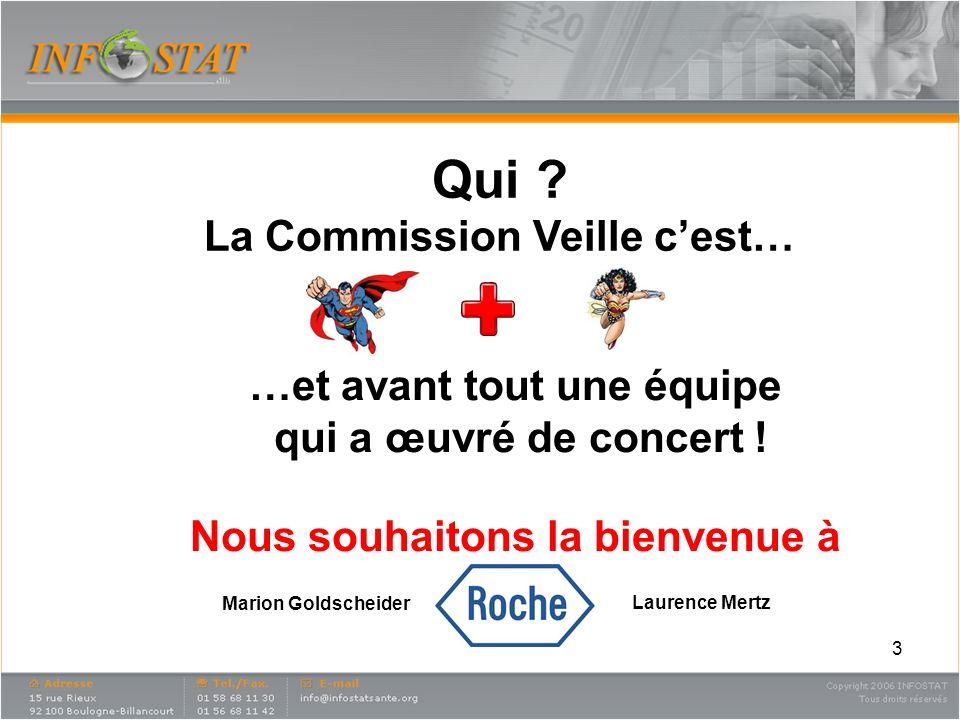 3 Qui . La Commission Veille cest… …et avant tout une équipe qui a œuvré de concert .