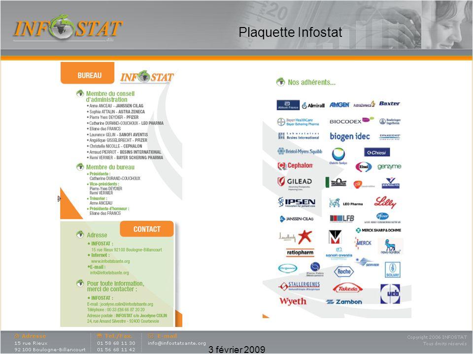 3 février 2009 Plaquette Infostat