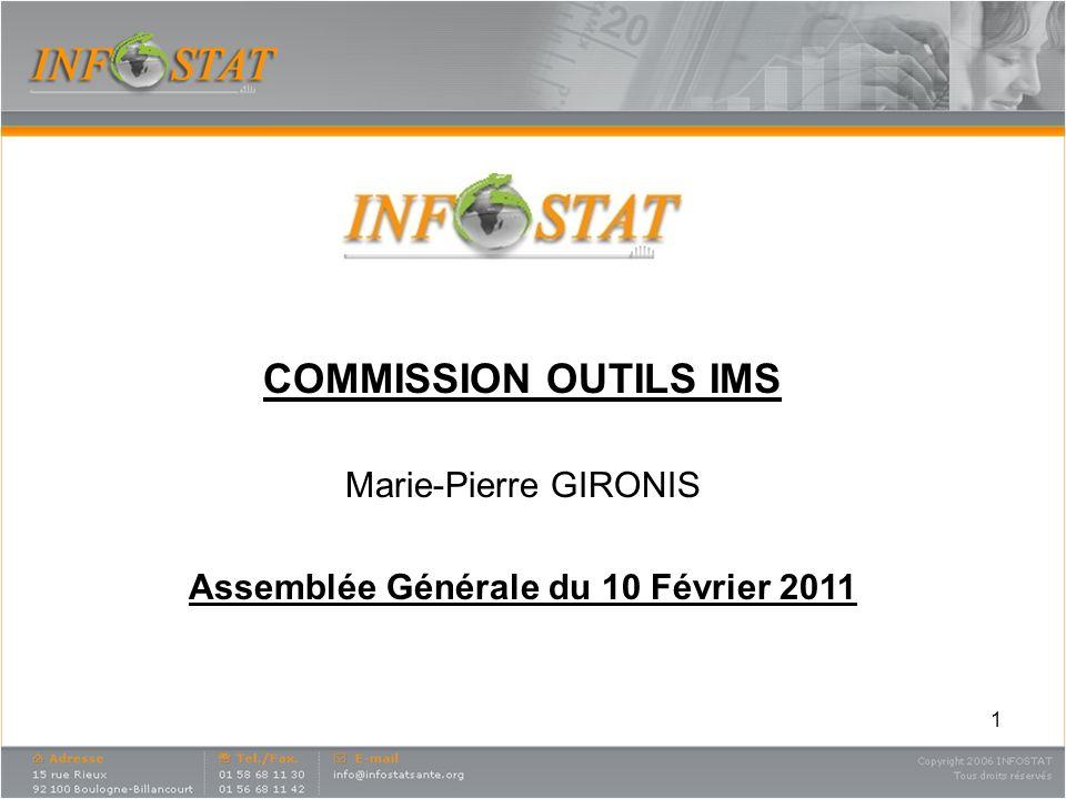 1 COMMISSION OUTILS IMS Marie-Pierre GIRONIS Assemblée Générale du 10 Février 2011