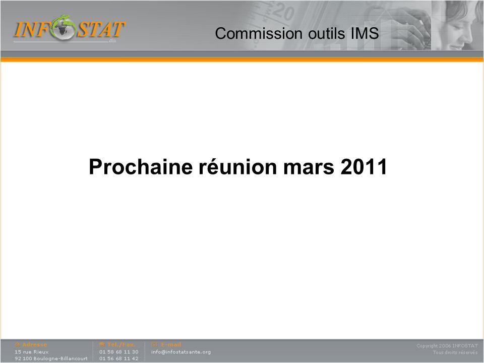Commission outils IMS Prochaine réunion mars 2011