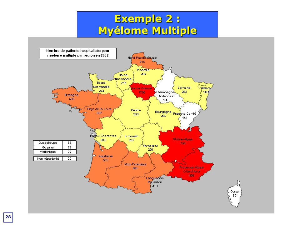 28 Exemple 2 : Myélome Multiple