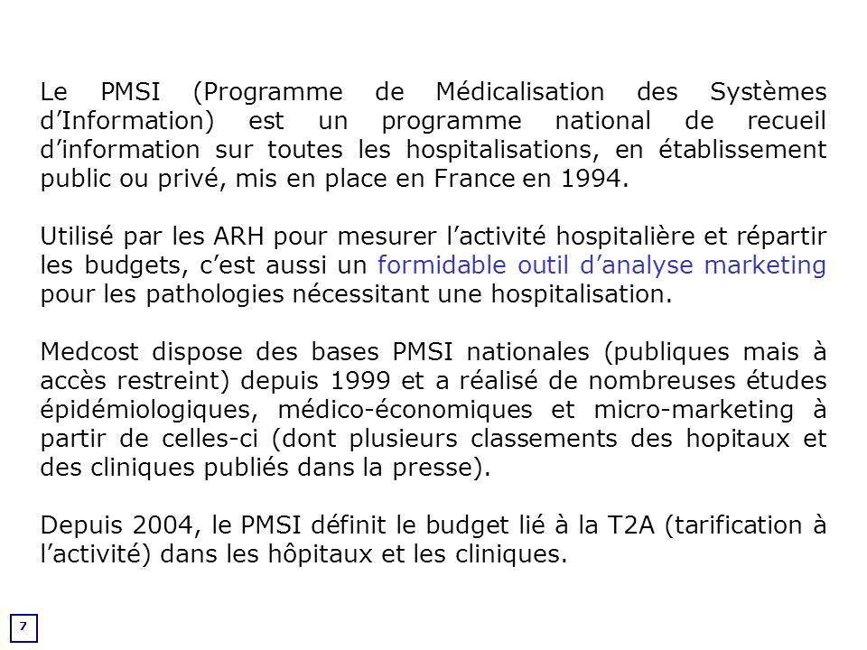 8 Nouveautés 2004 - 2005 Introduction de la T2A et des GHS Nomenclature GHM / GHS v10 Introduction des identifiants de chaînage Mise en place de la liste des molécules et des dispositifs « onéreux » (liste hors T2A) Mise en place des contrats de bon de usage Nouveautés 2004 - 2007