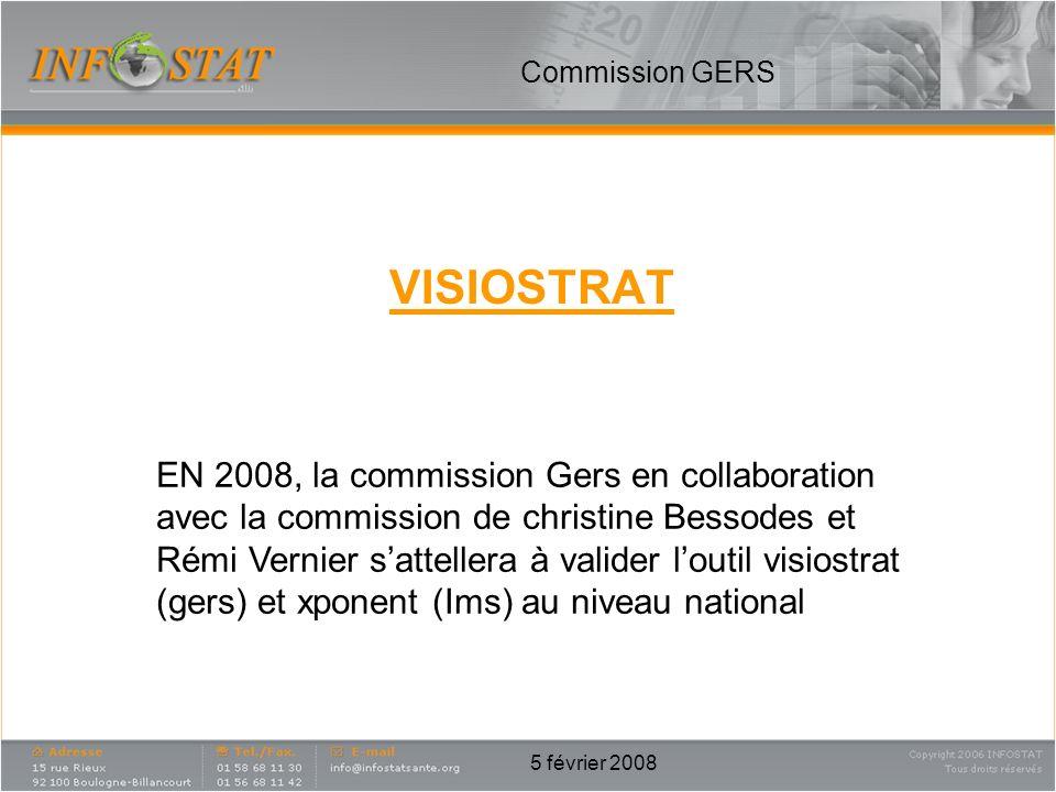 5 février 2008 VISIOSTRAT Commission GERS EN 2008, la commission Gers en collaboration avec la commission de christine Bessodes et Rémi Vernier sattel