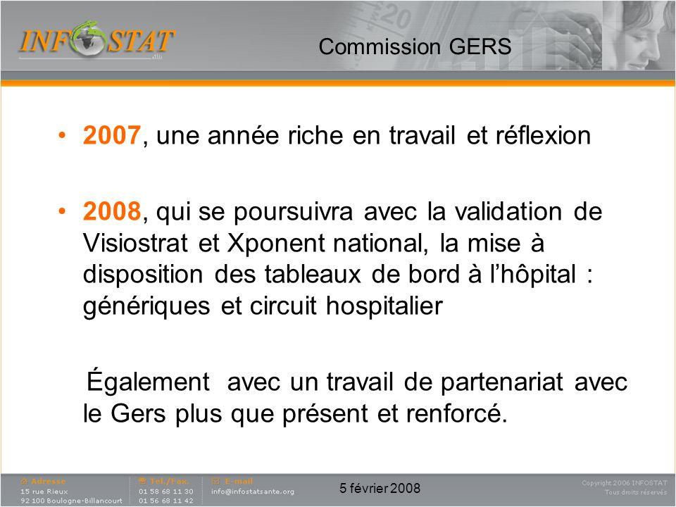 5 février 2008 2007, une année riche en travail et réflexion 2008, qui se poursuivra avec la validation de Visiostrat et Xponent national, la mise à d