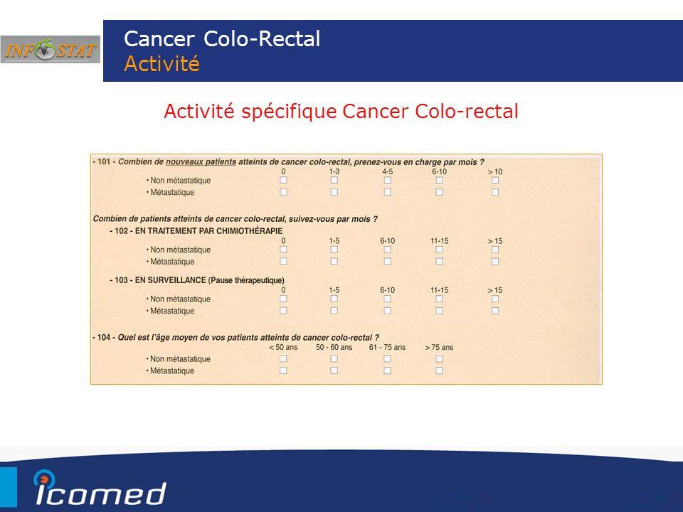 Cancer Colo-Rectal Activité Activité spécifique Cancer Colo-rectal
