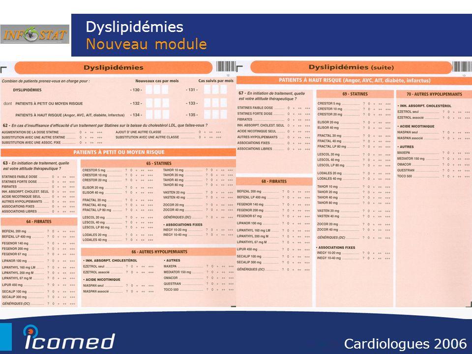 Dyslipidémies Nouveau module Cardiologues 2006