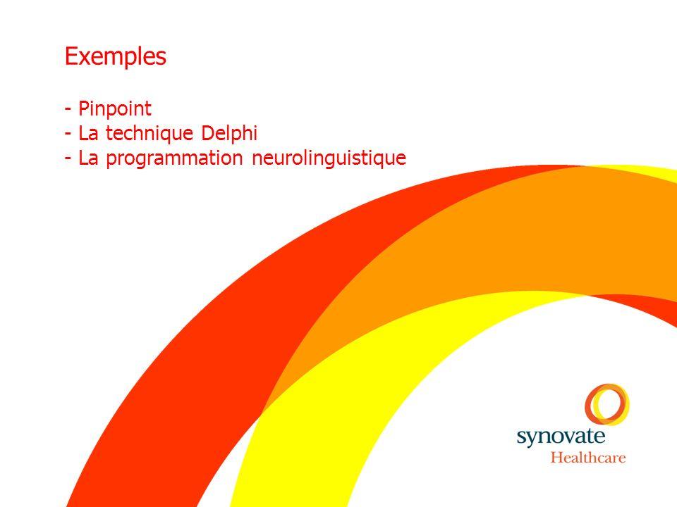 Exemples - Pinpoint - La technique Delphi - La programmation neurolinguistique