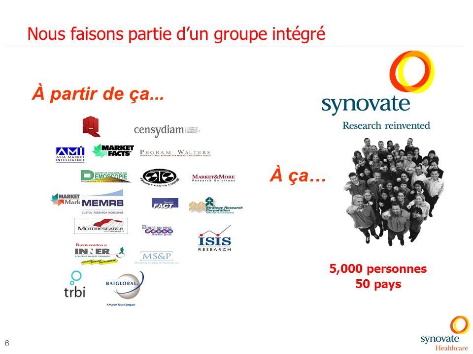 37 La passion et la curiosité sont dans nos gènes, et maintenant au service des clients du secteur santé en France Clarissa.guengant-delpup@synovate.com Geraldine.passemard@synovate.com www.synovate.com/healthcare/ Clarissa.guengant-delpup@synovate.com Geraldine.passemard@synovate.com www.synovate.com/healthcare/