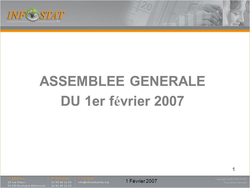 1 Février 2007 1 ASSEMBLEE GENERALE DU 1er f é vrier 2007