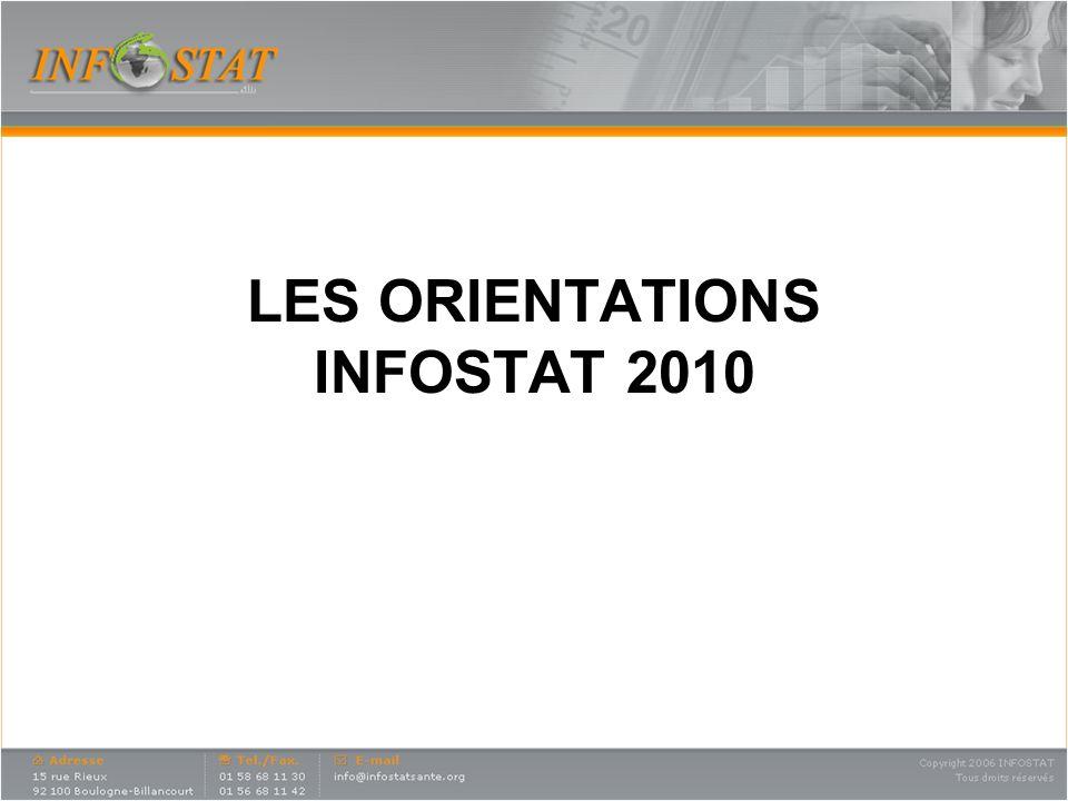 LES ORIENTATIONS INFOSTAT 2010