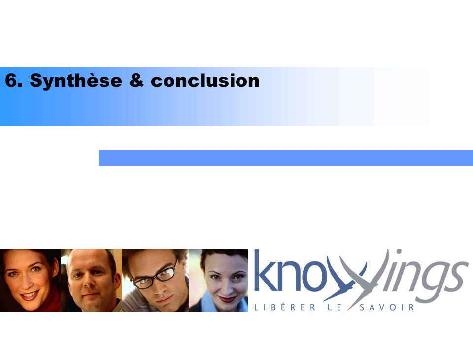 6. Synthèse & conclusion