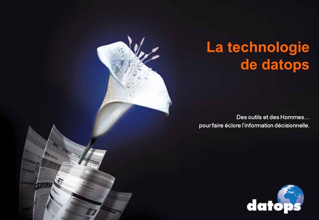 La technologie de datops Des outils et des Hommes… pour faire éclore linformation décisionnelle.