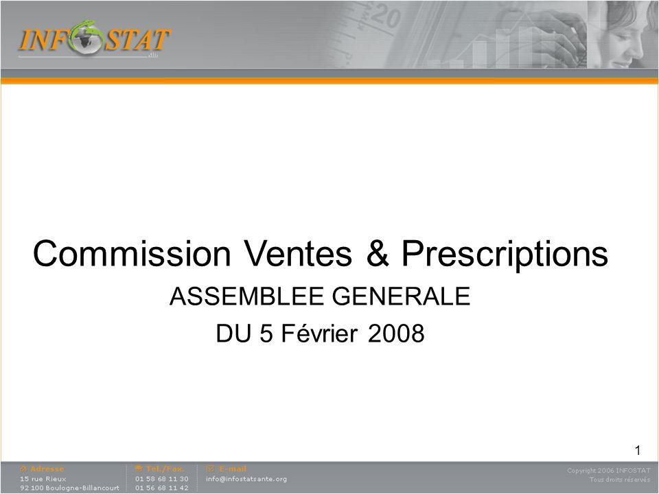 1 Commission Ventes & Prescriptions ASSEMBLEE GENERALE DU 5 Février 2008