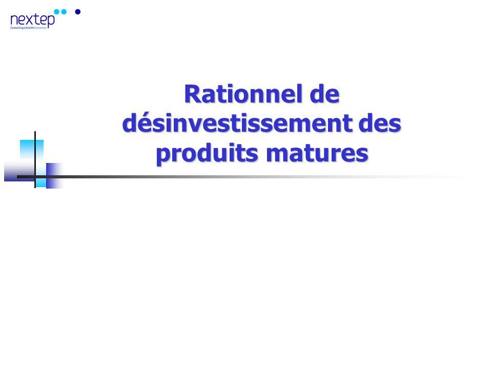 Rationnel de désinvestissement des produits matures