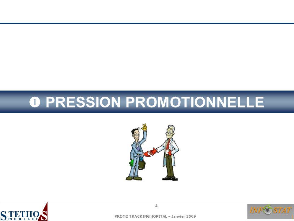 5 PROMO TRACKING HOPITAL – Janvier 2009 1.Nombre de visites argumentées 2.