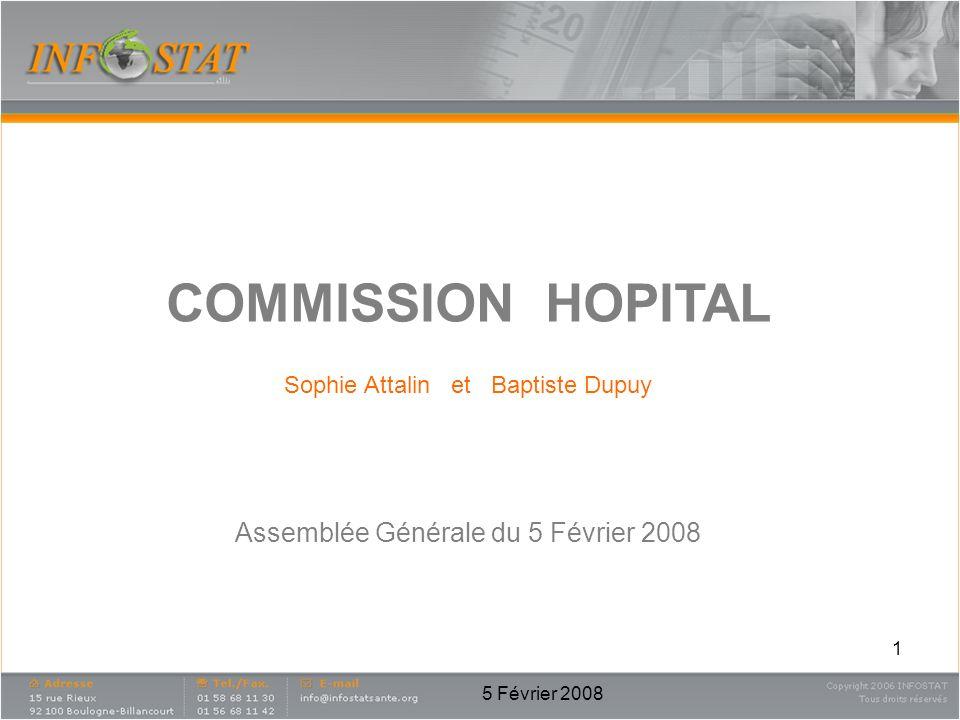 5 Février 2008 1 COMMISSION HOPITAL Sophie Attalin et Baptiste Dupuy Assemblée Générale du 5 Février 2008