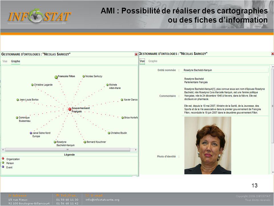 13 AMI : Possibilité de réaliser des cartographies ou des fiches dinformation