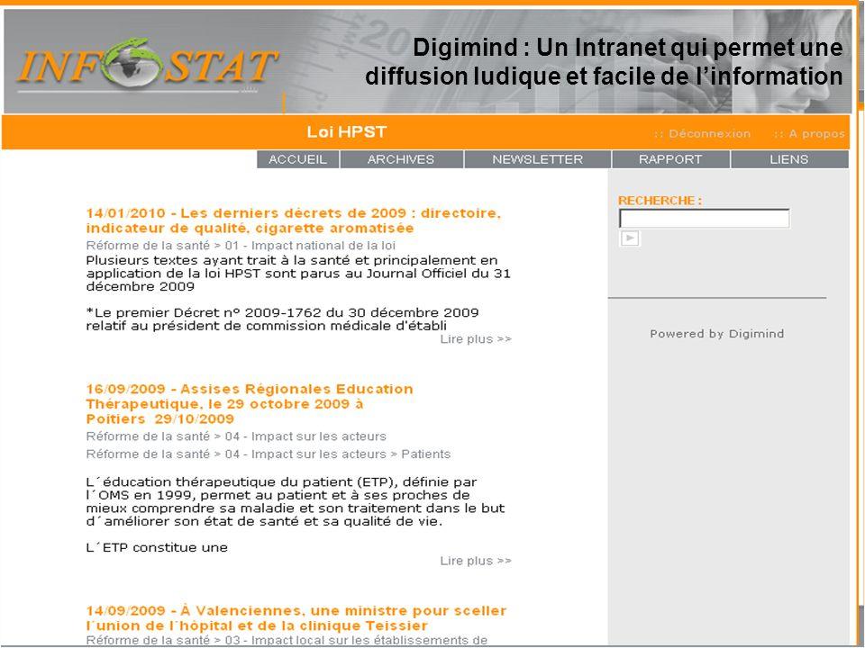 Rapport Lexis Nexis 16 Digimind : Un Intranet qui permet une diffusion ludique et facile de linformation