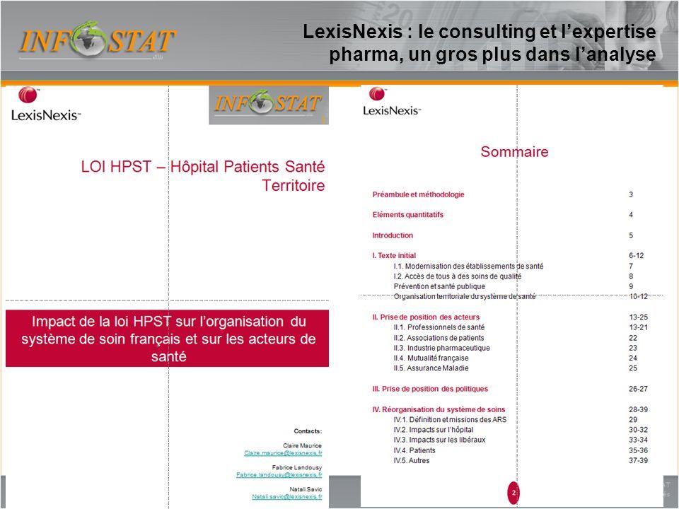 LexisNexis : le consulting et lexpertise pharma, un gros plus dans lanalyse 18