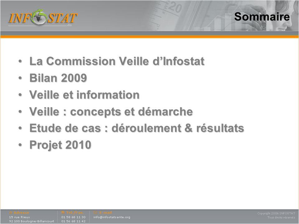 Sommaire La Commission Veille dInfostatLa Commission Veille dInfostat Bilan 2009Bilan 2009 Veille et informationVeille et information Veille : concept