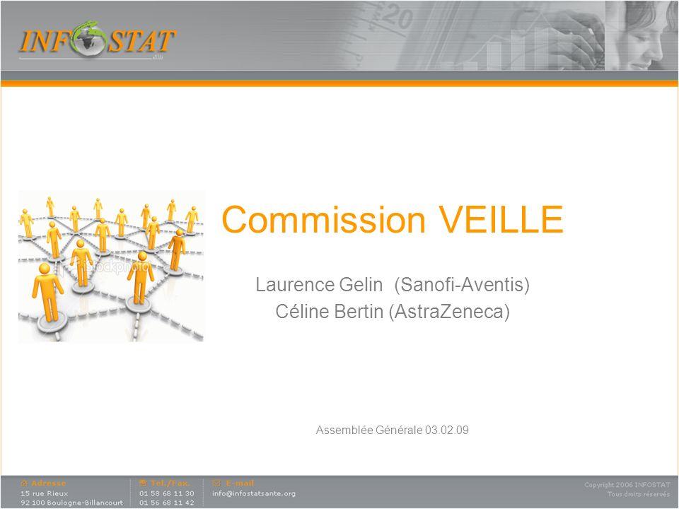 Commission VEILLE Laurence Gelin (Sanofi-Aventis) Céline Bertin (AstraZeneca) Assemblée Générale 03.02.09