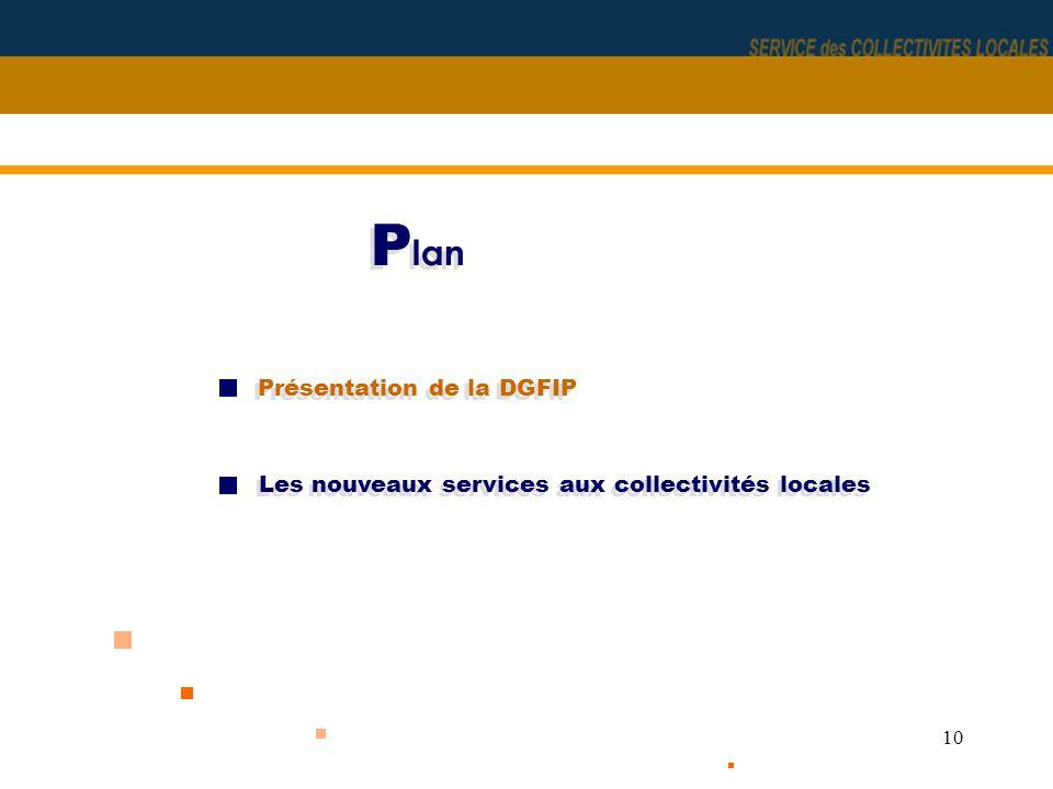 10 P lan Présentation de la DGFIP Les nouveaux services aux collectivités locales