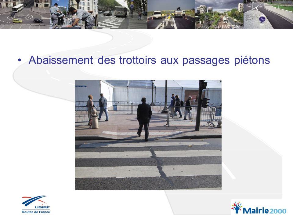 Chantiers : maintien du passage pour les PMR > 0.90 m Aménagements provisoires