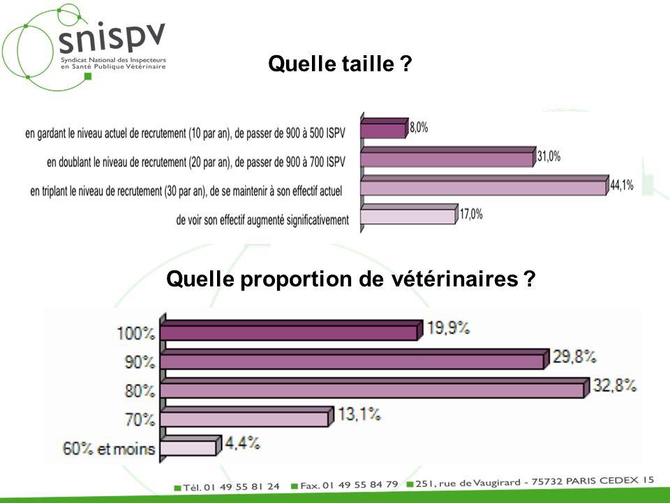 Quelle taille ? Quelle proportion de vétérinaires ?