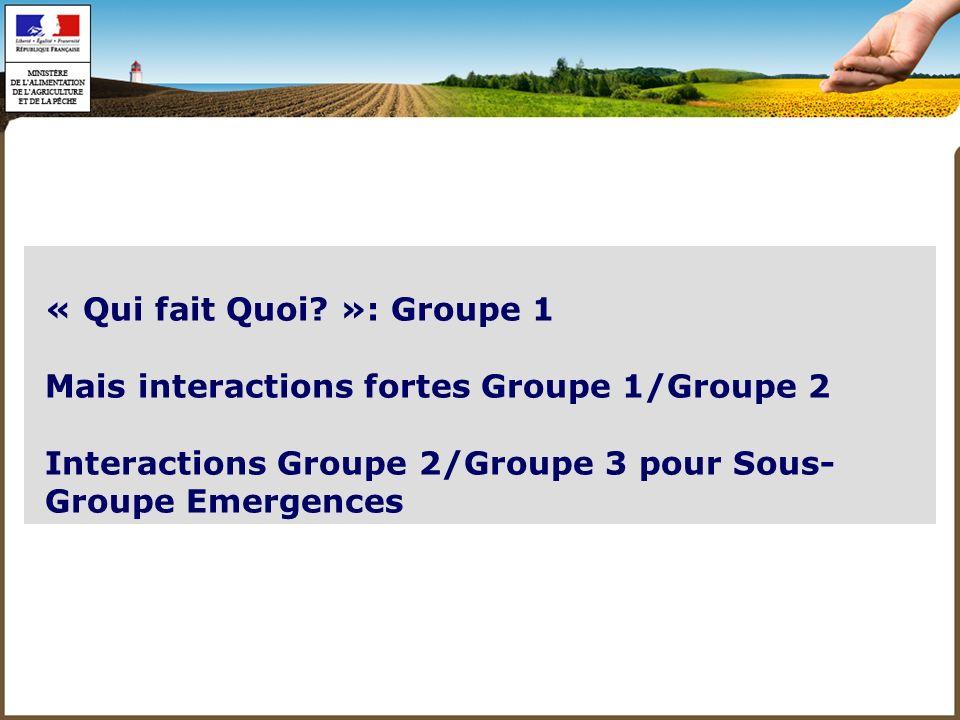 - Eventail large dorganismes acteurs Liste de 85 invitations - Participations aux Sous Groupes plus limitée 20-25 participants Participants