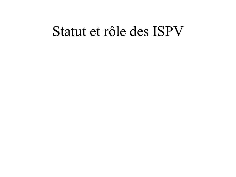 Statut et rôle des ISPV